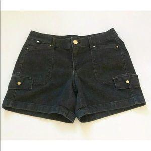 White House Black Market Black Denim Shorts 4